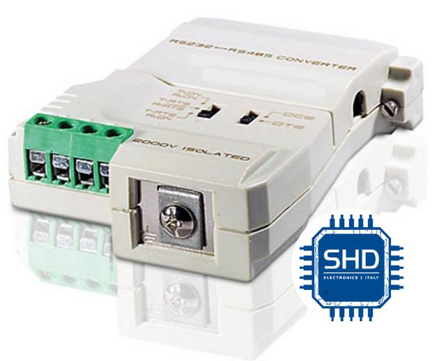 Convertitore segnale RS232  a RS485 / RS422 Versione portatile